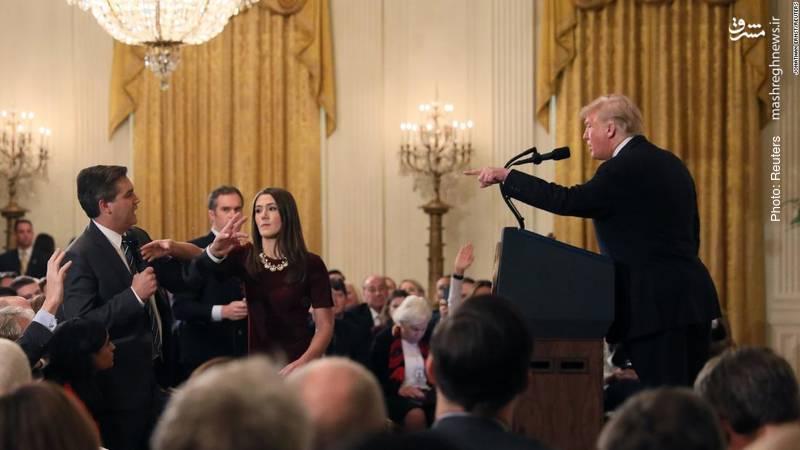 درگیری ترامپ با خبرنگار سیانان در کنفرانس خبری