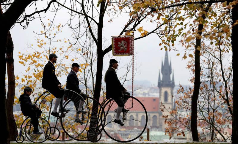 مسابقه سالانه دوچرخههای قدیمی در پراک، پایتخت جمهوری چک