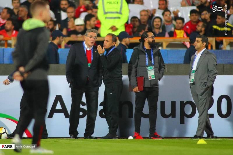 گرم کردن بازیکنان پرسپولیس و کاشیما پیش از فینال