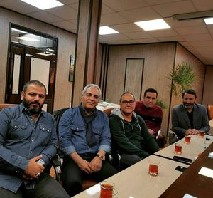 عکس/ جلسه کاری مهران مدیری و رامبد جوان