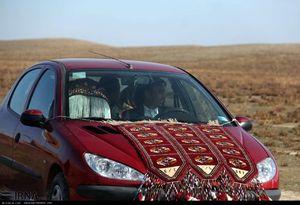 تزیین ماشین عروس ترکمنی