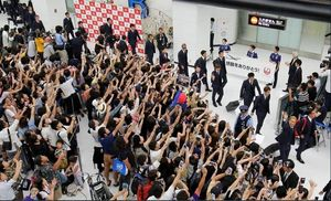 فیلم/ استقبال هواداران از کاشیما در فرودگاه