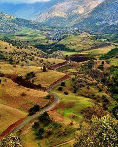 عکس/ جادهای دیدنی در کردستان