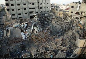 عکس/ حمله رژیم صهیونیستی به ساختمان تلویزیون الاقصی