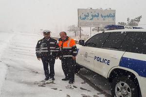 درخواست پلیس از رانندگان به دلیل بارش برف