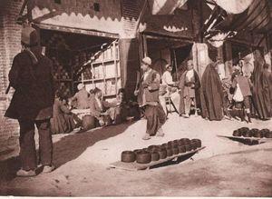 عکس/ بازار تهران در زمان قاجار