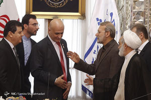 عکس/ دیدار گروه دوستی پارلمانی سوریه و ایران با لاریجانی
