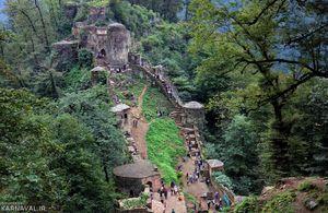 تصویری زیبا از طبیعت قلعه رودخان