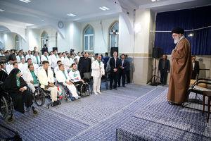 دیدار مدالآوران ایران در بازیهای پاراآسیایی جاکارتا با رهبرانقلاب