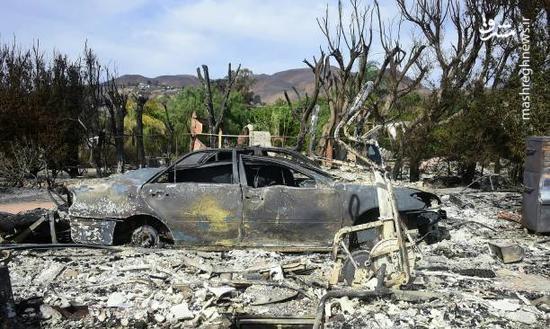 فیلم/ شهرهای سوخته کالیفرنیا پس از مهار آتش