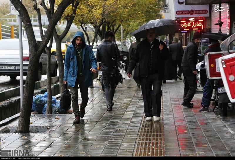 عکس/ ادامه بارش باران پاییزی در تهران