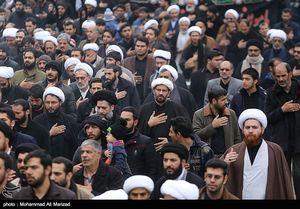 عکس/ عزاداری مردم قم در شهادت امام عسکری(ع)