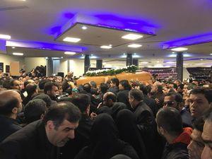 عکس/ شروع مراسم تشییع پیکر مرحوم نوربخش و تاج الدین در تهران