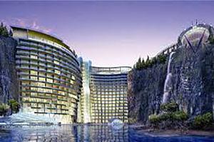 فیلم/ هتل پنج ستاره در یک معدن متروکه!