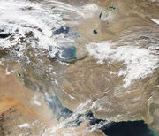 تصویر ماهوارهای از وضعیت جوی امروز ایران