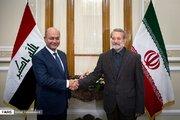 عکس/ دیدار رئیس جمهورعراق با لاریجانی