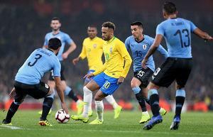 برتری برزیل مقابل اروگوئه در امارات