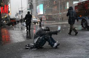 عکس/ مرگ 7 نفر بر اثر بارش برف در آمریکا