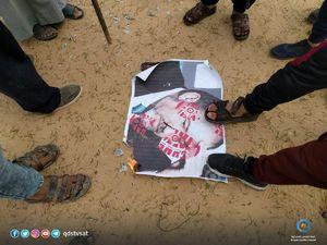 عکس/ هشدار فلسطینیها به برخی سران عرب
