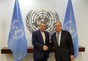 هدیه نماینده ایران به دبیرکل سازمان ملل