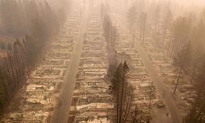 """تصاویری از شهر سوخته""""بوت"""" در کالیفرنیا"""