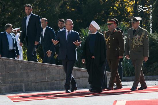 عکس/ استقبال رسمی روحانی از رئیس جمهور عراق