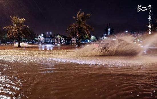 عکس/ بارش باران کویت را فلج کرد