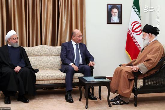عکس/ دیدار رئیس جمهور عراق با رهبر انقلاب