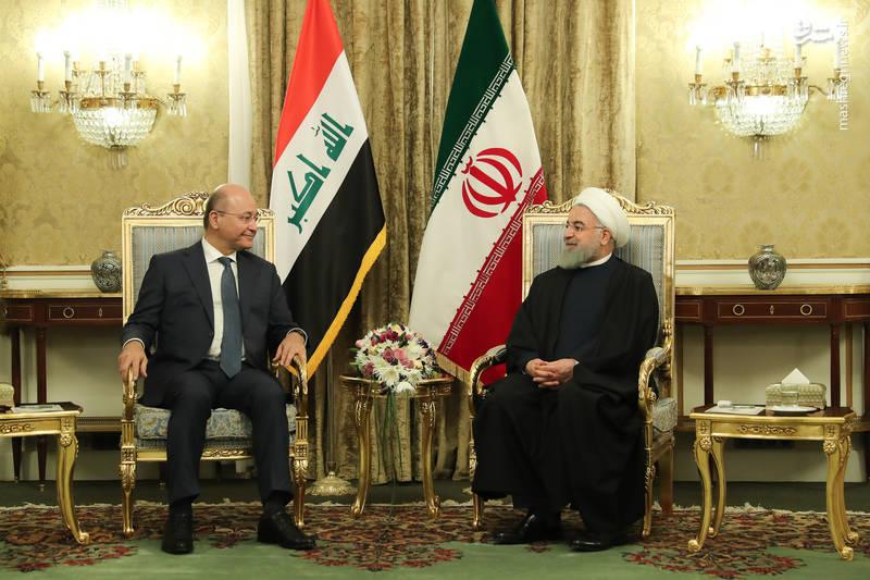 عکس/ دیدار روحانی با رئیس جمهور عراق