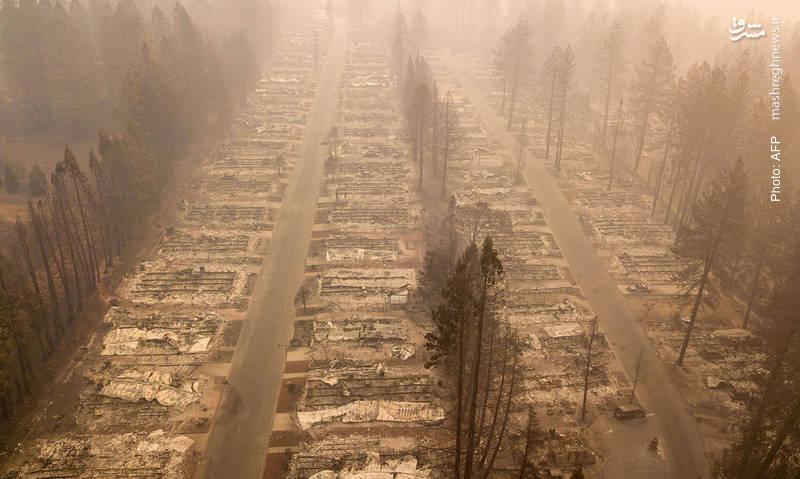پارادایس کالیفرنیا به جهنم تبدیل شده است. گفته می شود این بزرگترین آتش سوزی در قرن اخیر است.