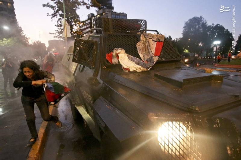 به خشونت کشیده شدن تظاهرات مردم در شیلی پس از کشته شدن یک فرد بومی به ضرب گلوله پلیس