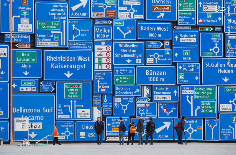دیوار موزه حمل و نقل سوییس