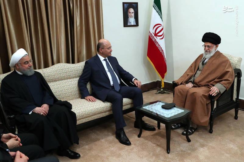 عکس/ دیدار رئیس جمهوری عراق با رهبر انقلاب