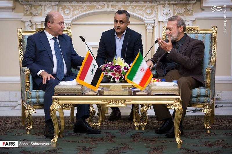دیدار رئیس جمهورعراق با رئیس مجلس شورای اسلامی