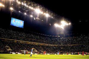 عکس/ سن سیرو در جریان بازی ایتالیا-پرتغال