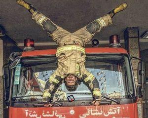 فیلم/ رقابت آتش نشانان در مسابقه تلویزیونی