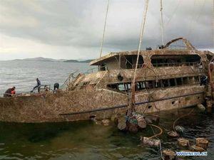 عکس/ پیدا شدن قایق تفریحی غرق شده در تایلند