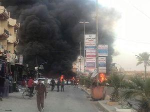 عکس/ انفجار مرگبار در مرکز تکریت
