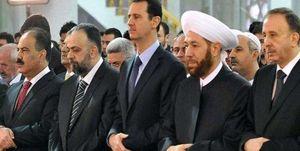 شرکت بشار اسد در جشن میلاد رسول اکرم(ص) در دمشق +عکس