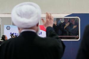 عکس/ افتتاح راهآهن ارومیه با حضور روحانی