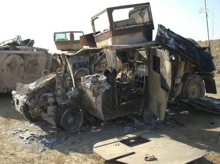 نتیجه برخورد هاموی با IED در عراق
