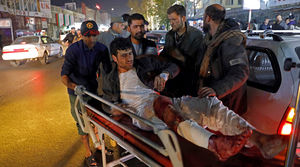 عکس/ حمله تروریستی به جشن میلاد پیامبر(ص) در کابل