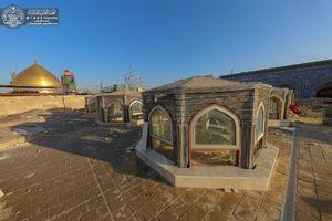 تصاویر جدید از مراحل ساخت صحن حضرت زهرا(س)