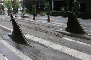 خلاقیت جدید چینی ها در پیاده رو