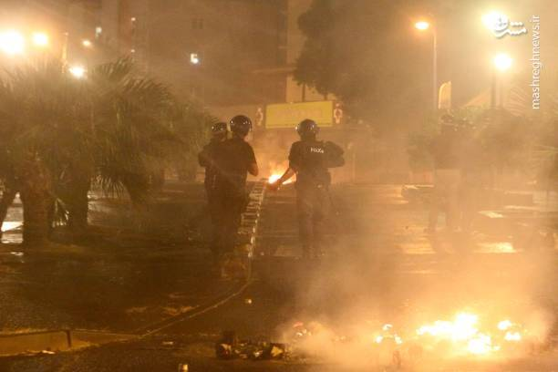 عکس/ به آتش کشیدن پمپ بنزینها در فرانسه