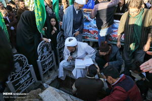 عکس/ تشییع پیکر سه شهید مدافع حرم در قم