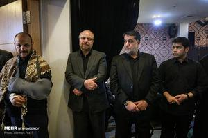 عکس/ حضور قالیباف در مراسم یادبود جهادگر آسمانی