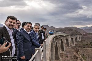 عکس/ افتتاح راهآهن قزوین–رشت پس از سالها انتظار