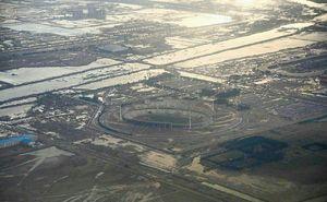 تصویر هوایی از آبگرفتگی های گسترده در اهواز