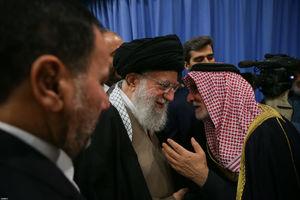 عکس/ خوشوبش مهمانان کنفرانس وحدت اسلامی با رهبرانقلاب